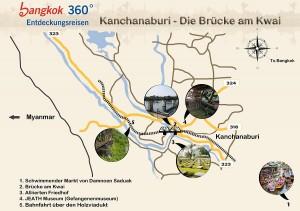 Kanchanaburi Landkarte